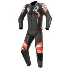 Alpinestars Leather suit 2-pcs Atem v4 Black/Redfluo
