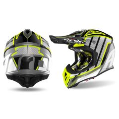 Airoh Helmet Aviator 2.3 AMS2 Glow chrome yellow