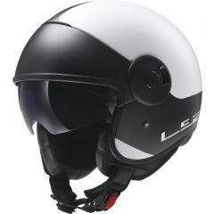 LS2 Helmet OF597 CABRIO VIA Matt White/Black