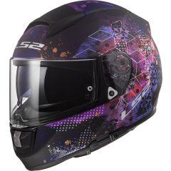 LS2 Helmet FF397 Vector FT2 Cosmos Matt Black/Pink