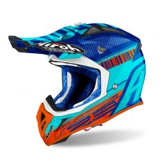 Airoh Helmet Aviator 2.3 AMS2 Novak blue chrome
