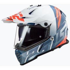 LS2 Helmet MX436 Pioneer Evo Evolve White/Blue