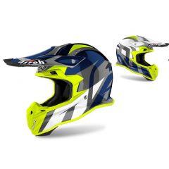 Airoh Helmet TERMINATOR OP.V Shoot Blue Gloss