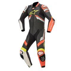 Alpinestars Leather suit 1-pcs GP Plus v3 Black/Redfluo/White
