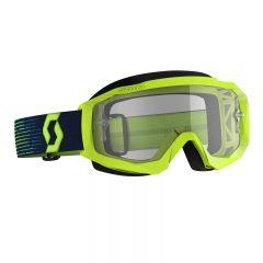 Scott Goggle MX Hustle X MX yellow/blue clear works