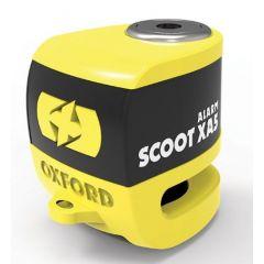 Oxford scooter XA5 Disc alarm Lock, yellow
