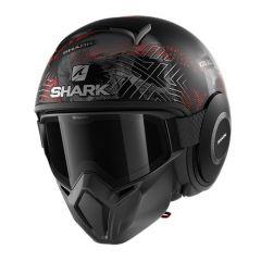 Shark Street Drak Krull, matt black/red