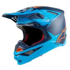 Alpinestars Helmet Supertech S-M10 Meta Blue/Orange fluo