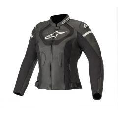 Alpinestars Leather jacket Women Jaws v3 Black