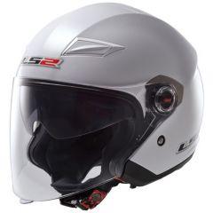 LS2 helmet OF569 TRACK SINGLE MONO gloss white