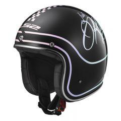 LS2 Helmet OF583 BOBBER RUSTY Black