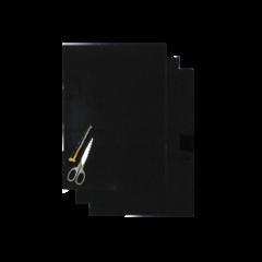 Blackbird Coloured sheet black 47x33cm (3pcs)