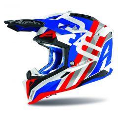 Airoh Helmet Aviator 3 Rainbow blue/red gloss