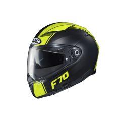 HJC Helmet F70 Mago Black Yellow MC4HSF