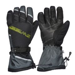 Sweep Blower glove, black/grey/yellow