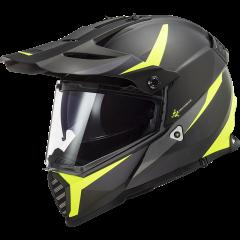 LS2 Helmet MX436 PIONEER EVO ROUTER HI VIS YELLOW