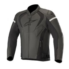 Alpinestars Leather jacket Jaws v3 Black/Black
