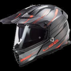LS2 Helmet MX436 PIONEER EVO KNIGHT TITANIUM ORANGE