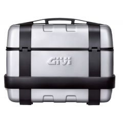Givi Trekker 46 litre top-case black with aluminium finish with top opening TRK46N