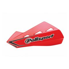 Polisport Qwest Handguards + Universal Plastic Mounting Kit Red CR04