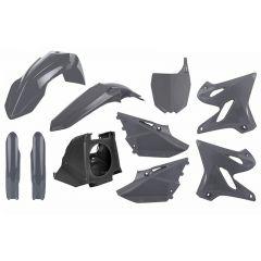 Polisport kit Yamaha YZ125/250(02-->)Resty w/18 fork guards(08->) Nardo Grey