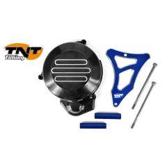 TNT Flywheel & sprocket cover, Black/Blue, Derbi Senda