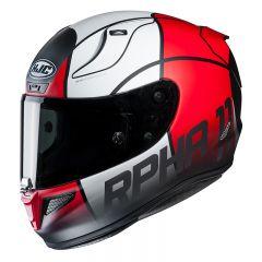 HJC Helmet RPHA 11 Quintain Gray/White/Red MC1SF