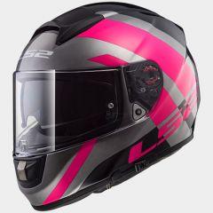 LS2 Helmet FF397 TRIDENT titanium pink