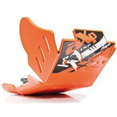 AXP Xtrem HDPE Skid plate Orange KTM250/350EXC-F 17- AX1494