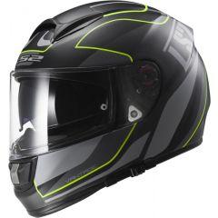 LS2 Helmet FF397 VECTOR VANTAGE Matt Black/Yellow