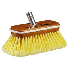 Star brite Premium Soft Wash Brush - Synthetic Wood Block W/Bumper (Yellow)