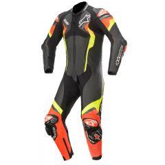 Alpinestars Leather suit 1-pcs Atem v4 Black/Red/Yellowfluo