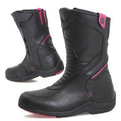 Sweep Boot Womans Diamanda Waterproof, Black/Pink
