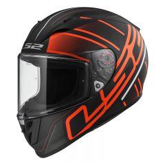 LS2 Helmet FF323 ION Matt Black Red