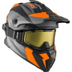 CKX Helmet + Goggles TITAN Sidehill Matt orange