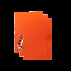 Blackbird Coloured sheet orange 47x33cm (3pcs)