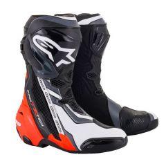 Alpinestars Boot Supertech R v2 Black/Fluo Red/White