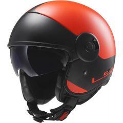 LS2 Helmet OF597 CABRIO VIA Matt Orange/Black