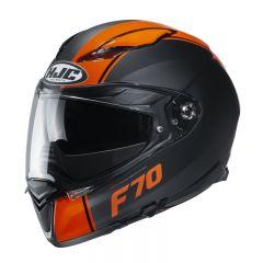 HJC Helmet F70 Mago Black orange MC7SF