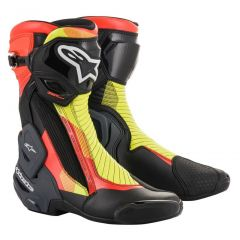 Alpinestars Boot SMX Plus v2 Black/Redfluo/Yellow