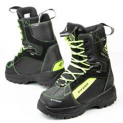 Sweep Yeti snowmobile boots black/yellow