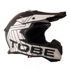 Tobe Terminator Helmet, Stripe Black/White