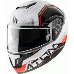 MT Atom flip-up helmet, Quark B5 Gloss Pearl Red