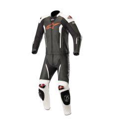 Alpinestars Leather suit Missile Tech Air 2-pcs Black/White/Fluored
