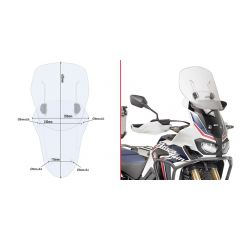 Givi Specific sliding wind-screen for Honda CRF1000L Africa Twin (16)