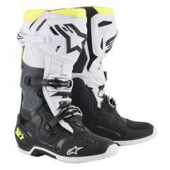 Alpinestars Boot Tech 10 2019 Black/White/Fluoyellow