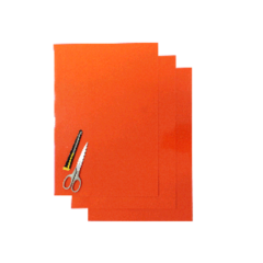 Blackbird Coloured sheet orange 47x33cm (3pcs)