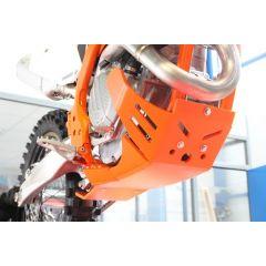 AXP Xtrem HDPE Skid Plate Orange KTM SXF250-SXF350-XCF250-XCF350 16-18 AX1455