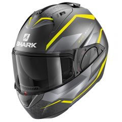 Shark EVO ES Yari Matt Anthracite/Yellow/Silver