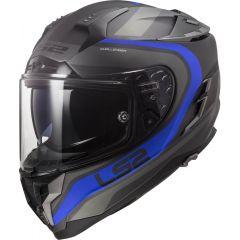 LS2 Helmet FF327 Challenger Fusion Matt Titanium/ Blue
